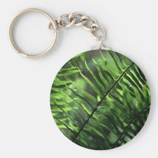 Flora - Ferns - Backlit Ferns Basic Round Button Keychain