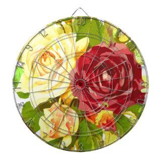 flora floral flower plant rose dartboard
