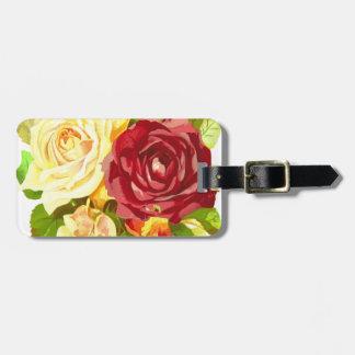 flora floral flower plant rose luggage tag