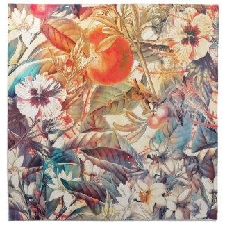 flora flowers napkin