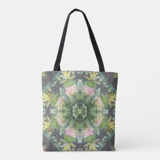 Flora Gone Wild Mandala Tote /Cross Body Bag