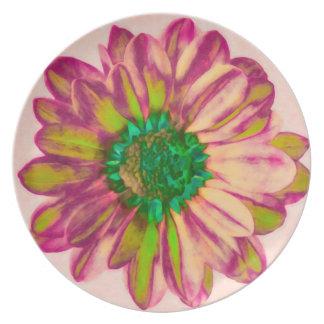Flora melamine dinnerware plate. plates