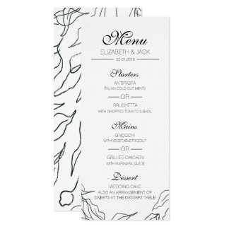 Flora Minimal Wedding Menu Card