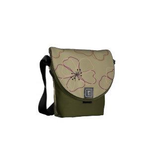 Flora Moss Green Mini Messenger Bag