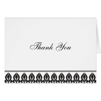 Flora Notecard-Black/White Card
