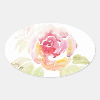 Flora Oval Sticker