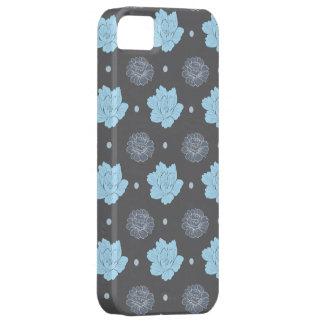 flora pattern grey theme iPhone 5 case