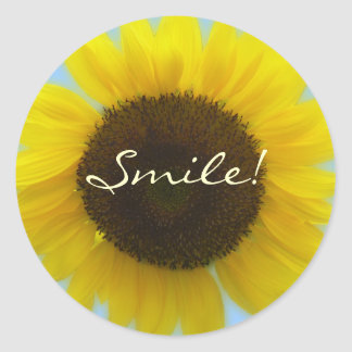 Flora Photo - Bright and cheerful sunflower Classic Round Sticker