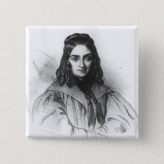 Flora Tristan 2 Inch Square Button