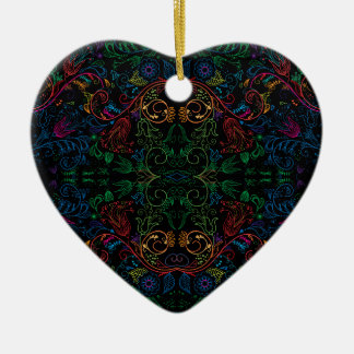 Floradore - Black Ceramic Heart Ornament