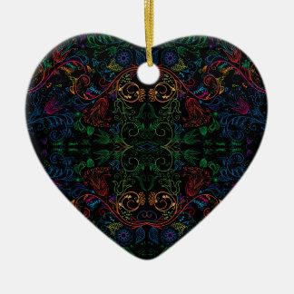Floradore - Black Ceramic Ornament