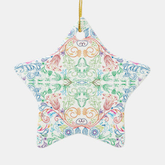 Floradore - White Ceramic Ornament
