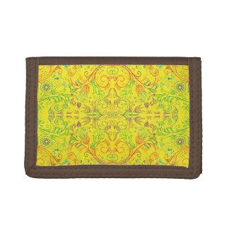 Floradore - Yellow Tri-fold Wallet