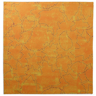 floral71-orange FLORAL ORANGES STRING ABSTRACT RAN Cloth Napkins