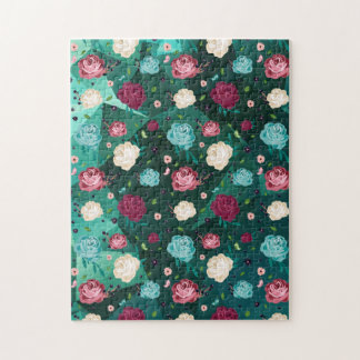 """""""Floral"""" 11x14 Photo Puzzle with Gift Box"""