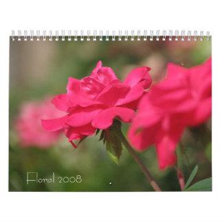 Floral 2008 calendars