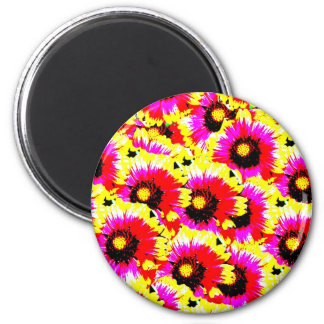 Floral 2 Inch Round Magnet
