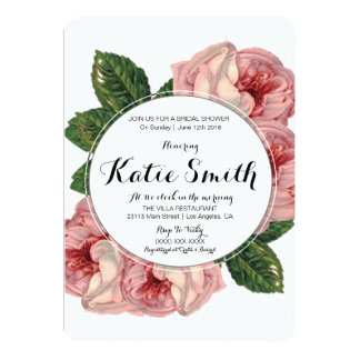 Floral 5x7 Bride Shower Invitation