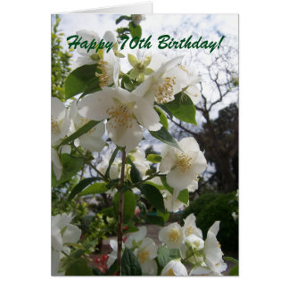 Floral 70th Birthday Card