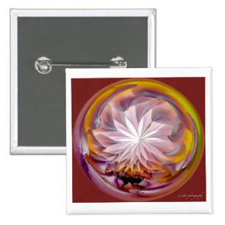 Floral Abstract 2 Inch Square Button