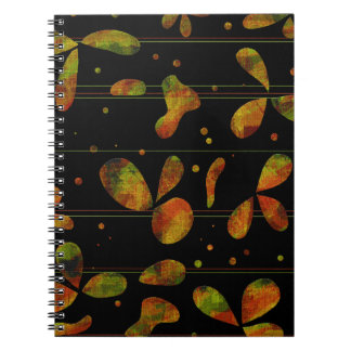 Floral abstract art spiral note book