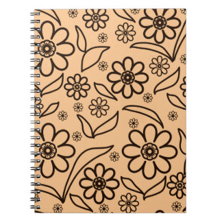 Floral abstract background notebooks