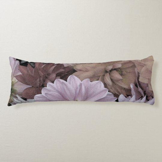 Floral Abstract Dahlia Garden Flowers Body Pillow