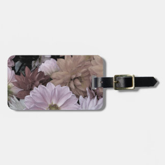 Floral Abstract Dahlia Garden Flowers Luggage Tag