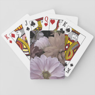 Floral Abstract Dahlia Garden Flowers Playing Cards