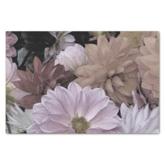 Floral Abstract Dahlia Garden Flowers Tissue Paper
