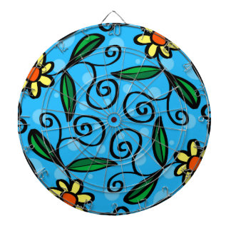 Floral Abstract Dart Board