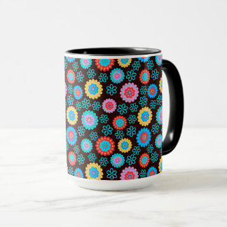 Floral abstract design mug