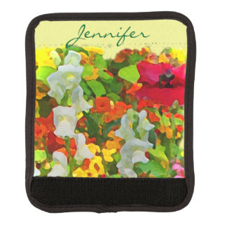 Floral Abstract Garden Flowers Luggage Handle Wrap