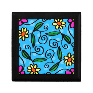 Floral Abstract Gift Box