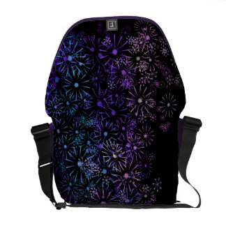 Floral abstract. messenger bag