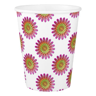 Floral abstract. paper cup