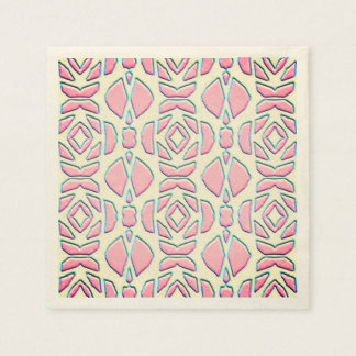 Floral abstract paper napkins