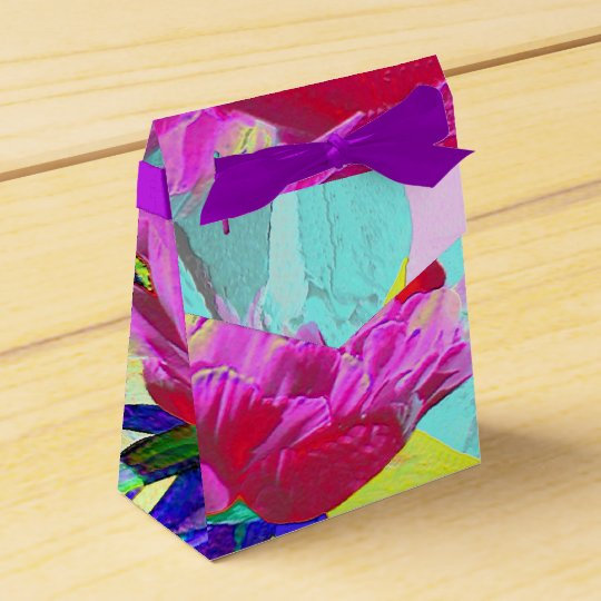 Floral abstract party favor boxes