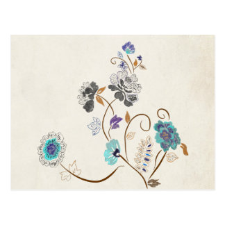 Floral Abstract Postcard