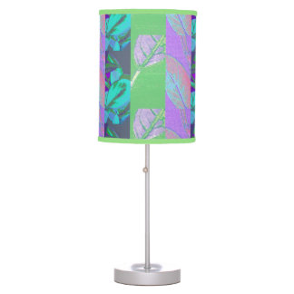 Floral abstract table lamp