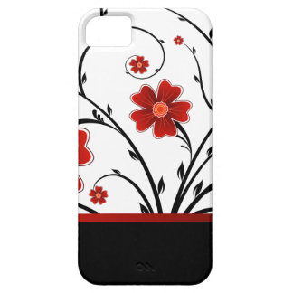 floral abstract with black bar case for the iPhone 5