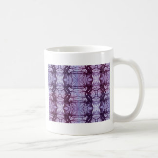 Floral abstraction basic white mug
