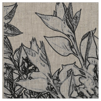 floral abstraction fabric