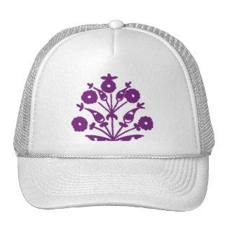 Floral abstrait de violette casquette de camionneur