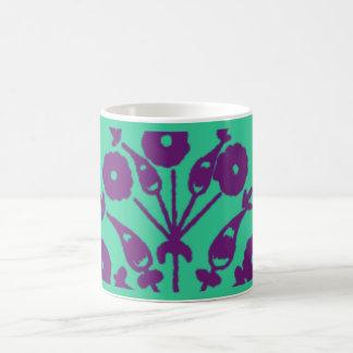 Floral abstrait de violette tasse