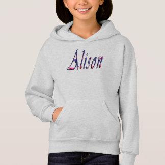 Floral Alison Girls Name Logo,