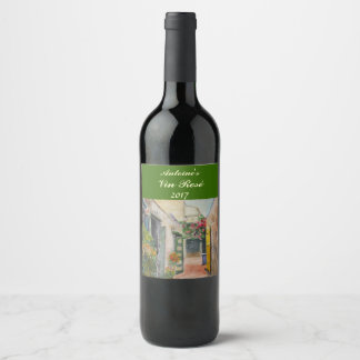 Floral Alley Rose Wine Label