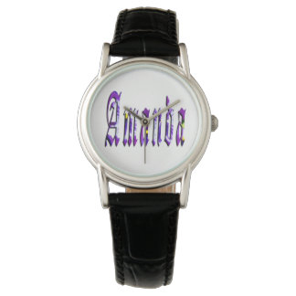 Floral Amanda Girls Name Logo, Watch