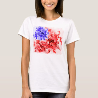 floral american flag ,american flag,united states T-Shirt