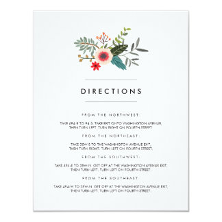Floral Ampersand Matching Insert Card